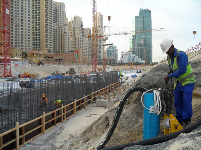 Deep Well Dewatering For The Prestigious Jumeirah Beach
